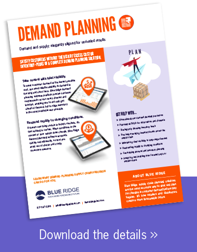 Demand Planning Software Solutions by Blue Ridge