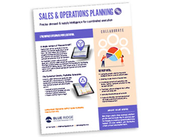 Sales and Operations Planning Cover