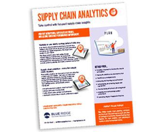 Blue Ridge supply chain analytics cover