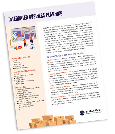 Integrated Business Planning By Blue Ridge
