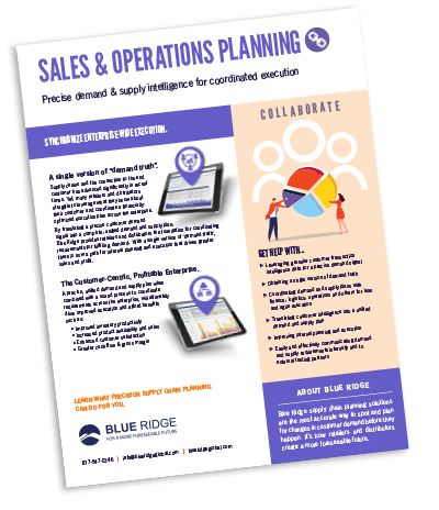 Sales and Operations Planning Software Solution